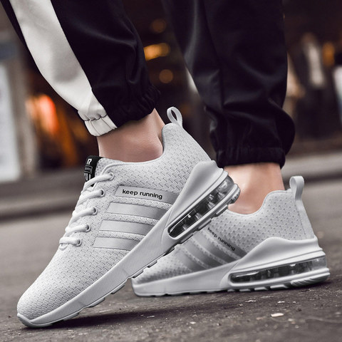 Summer shoes men sneakers 2019 fashion flat with mesh casual shoes breathable sneakers men shoes lace-up couple sports shoes Lahore