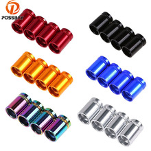 POSSBAY Metal Car Tyre Air Valve Caps Wheel Tire Valve Caps Anti Theft Wheel Universal Motorcycle Automobiles Bicycle