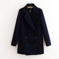 в 2014 году новой осенней и зимней одежды, женщины моды случайные двубортный шерсти пальто, женщина высококачественные шерстяные пальто