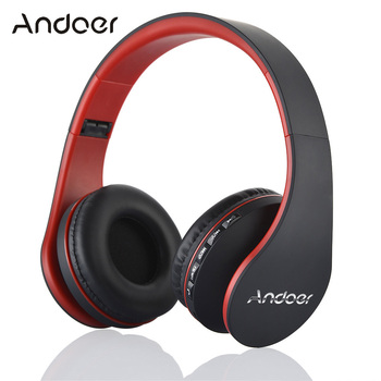 Andoer Digital 4 in 1 Multifunctional LH-811 Stereo Bluetooth 4.1+EDR Headphones Wireless Headset Music Earphone with Micphone