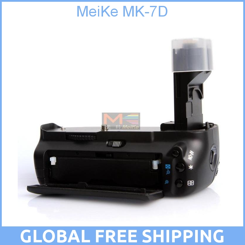 MeiKe MK-7D/BG-E7 Battery Grip for Canon 7D meike mk 760d pro built in 2 4g wireless control battery grip suit for canon 750d 760d as bg e18