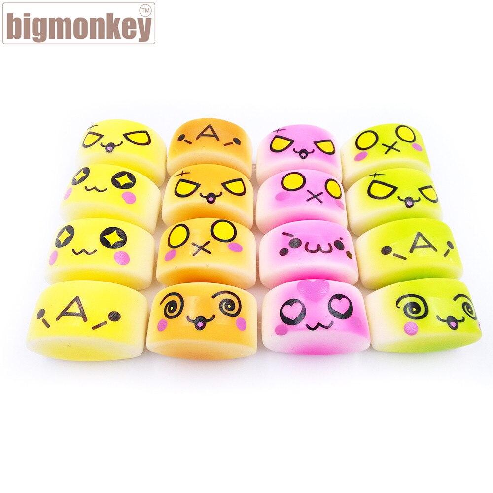 imágenes para Mono grande Nuevo colorido lento aumento de Mini Cara Al Vapor Bollo Encanto Blando/envío gratis 30 unids/lote