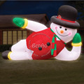 X051 4m hight  Inflatable snowman  hat, inflatable Christmas decoration, inflatable christmas snowman with LED Light