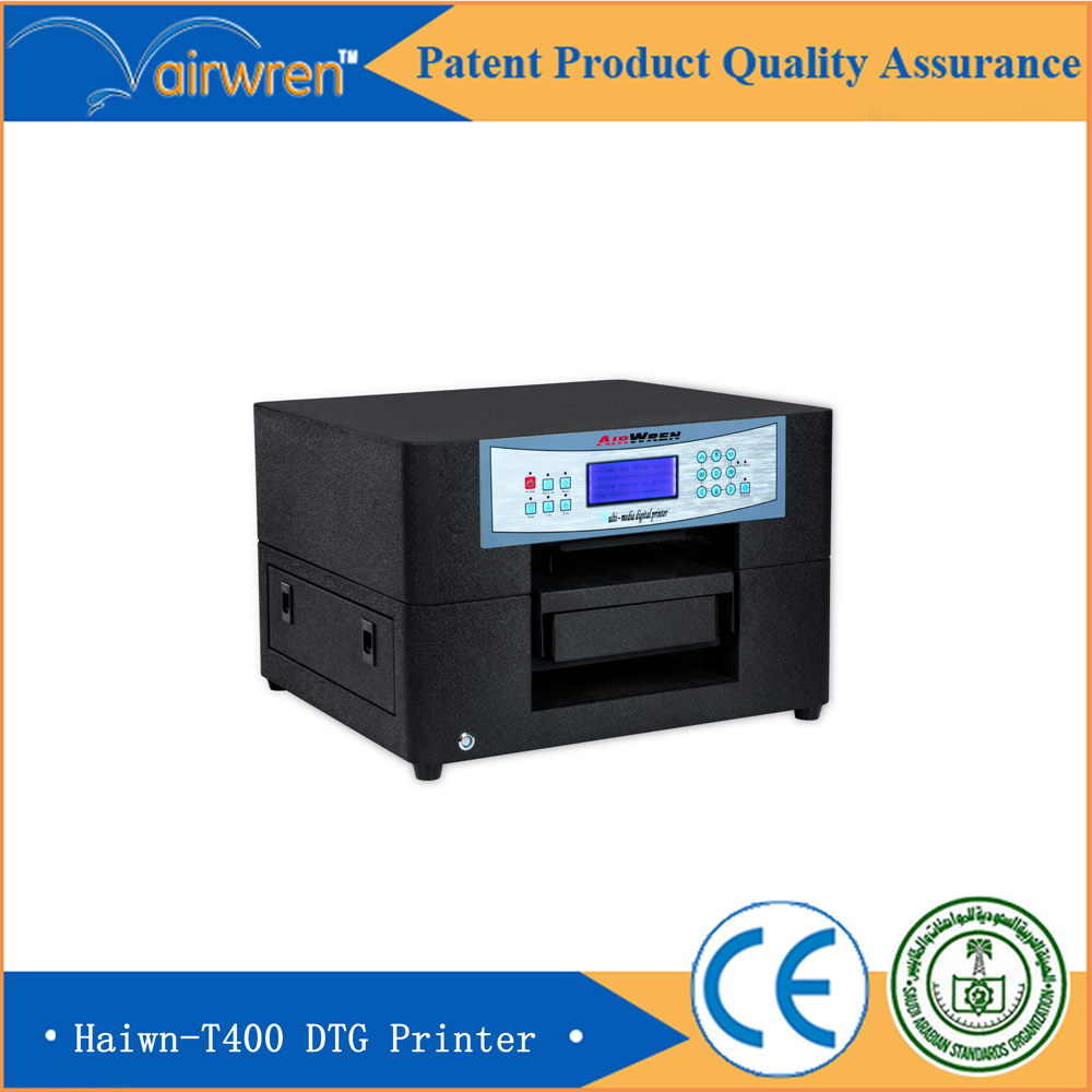 a4 textile DTG printer digital flatbed printer for t-shirt with high resolution