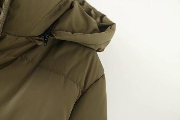 Manteaux À Capuchon Noir Parkas Veste Plus army Chaud Ouatée Green Femmes Vêtements 5xl F7 Taille 177 D'hiver Amovible Épais Impression La UMVpqSz