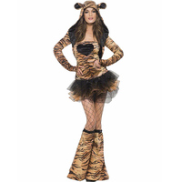 Adult Women Cute Sexy Jungle Animal Fever Tiger Fancy Dress Costume Fashion Style With High Quality