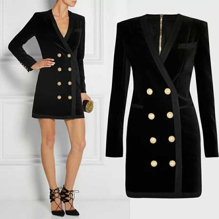 Popular Women Velvet Blazer Gold Button-Buy Cheap Women Velvet ...
