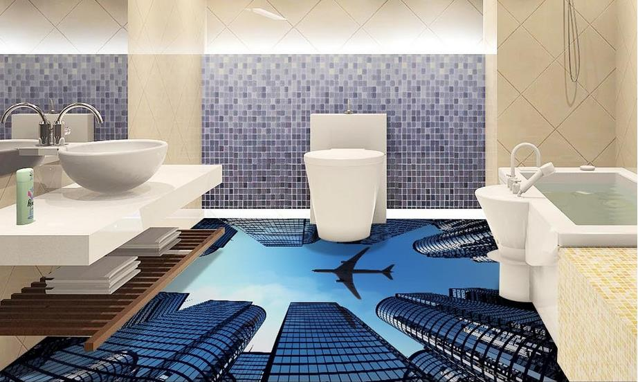 Online buy wholesale wallpapers cities from china for Waterproof bathroom murals