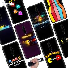 Cute Pacman Eating Black Soft Case for Oneplus 7 Pro 7 6T 6 Silicone TPU Phone Cases Cover Coque Shell