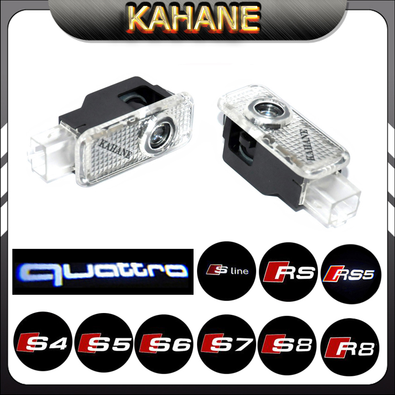2X S-Line S3 S4 S5 S6 S7 RS RS3 RS4 SR5 LOGO LIGHT led car door laser projector light shadow ghost logo light ghost light