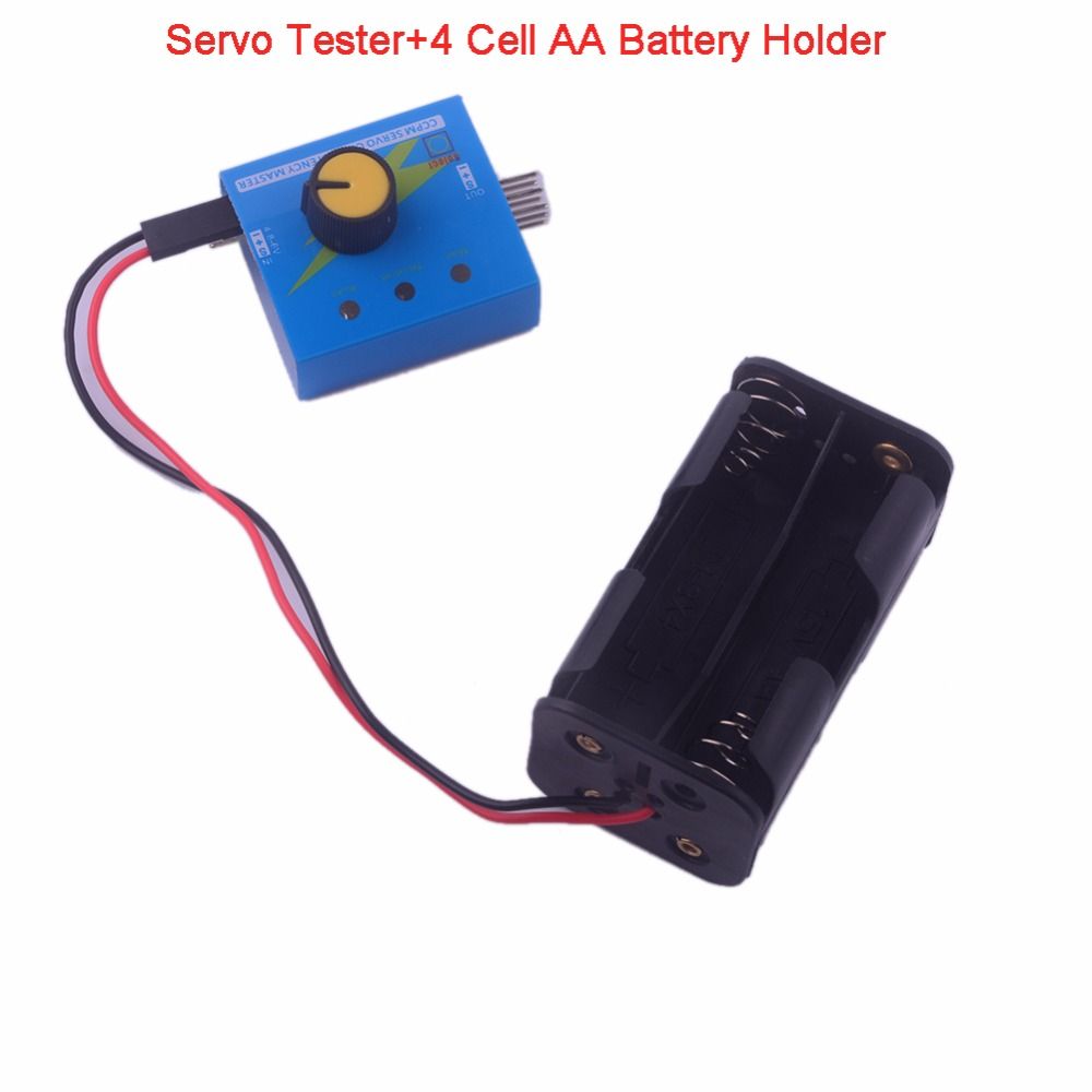 Servo Tester +4 Cell AA Battery Batteries Holder Case With Fut J Connector For Analog/ Digital Servo Motor FZ0011+FZ3283