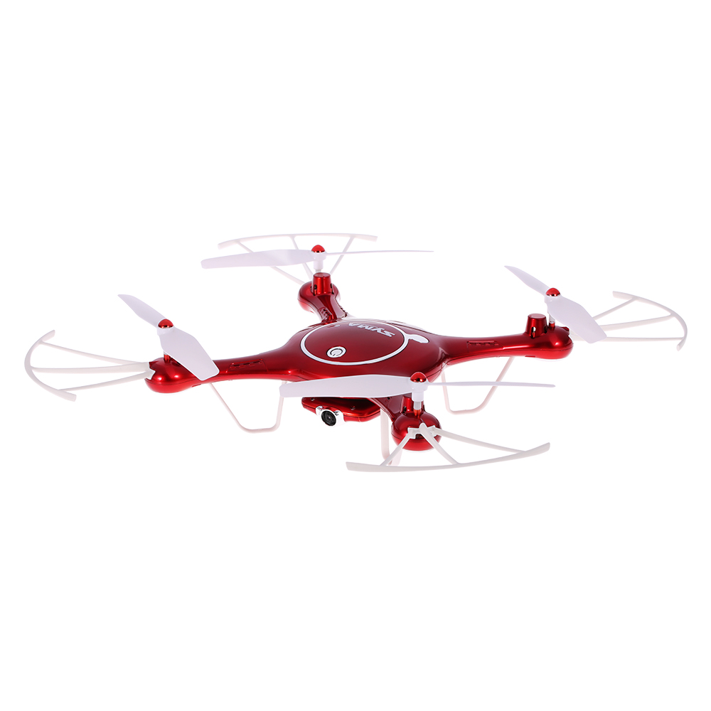 2017 Syma X5UW Drone with WiFi Camera HD 720P Real-time Transmission FPV Quadcopter 2.4G 4CH RC Helicopter Dron Quadrocopter-Red игрушка syma s39g red