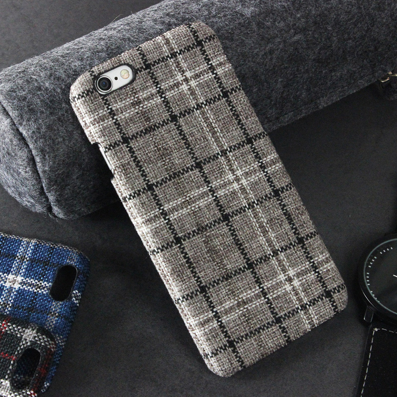 Plaid Cloth Phone Cases For Apple IPhone 7 Case Ultra Thin Hard Back Cover For IPhone 7 Plus