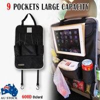 MAYITR Auto Car Back Seat Storage Bag Car Seat Cover Organizer Holder Bottle Tissue Box Magazine