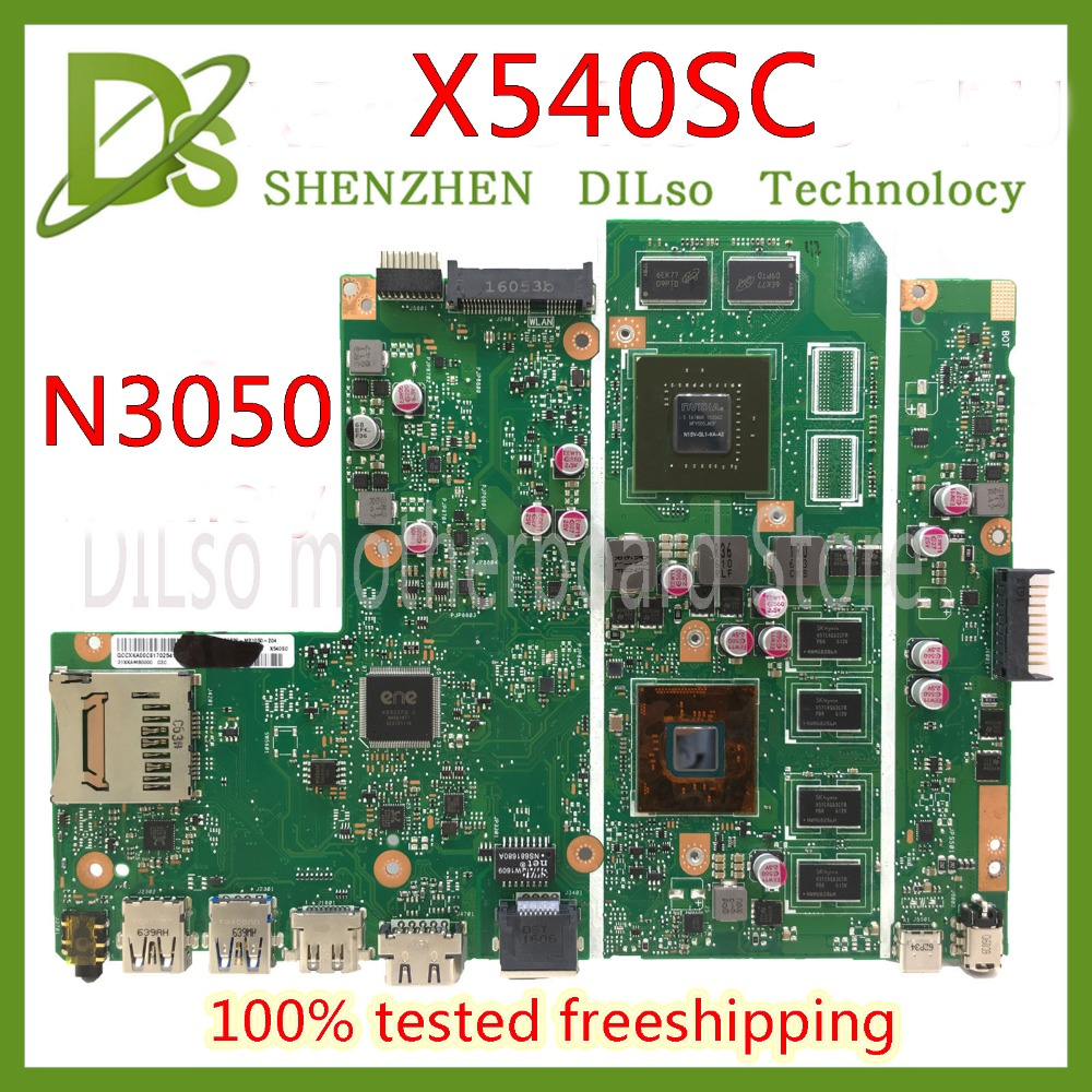 цена на KEFU X540SC mainboard For ASUS X540SC X540S laptop motherboard N3050 CPU 4G/2G memory with graphics card 100% Test original