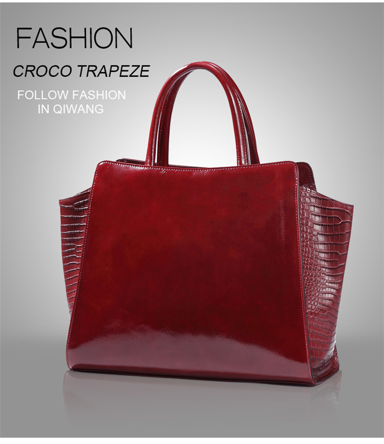 ace48e7526d7 Qiwang Authentic Women Crocodile Bag 100% Genuine Leather Women Handbag Hot  Selling Tote Women Bag Large Brand Bags LuxuryUSD 72.91 piece
