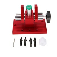 Professional DIY Watchmaker Tool Snap On Back Case Opener Watch Case Remover with 4 Blades Red Watch Repair Tool Accessories