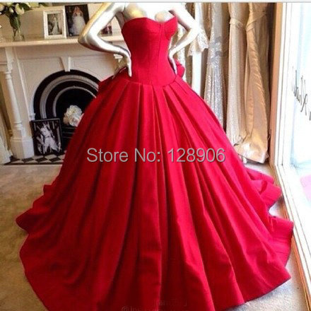 modern red quinceanera dress 2015 sweetheart beaded pleat