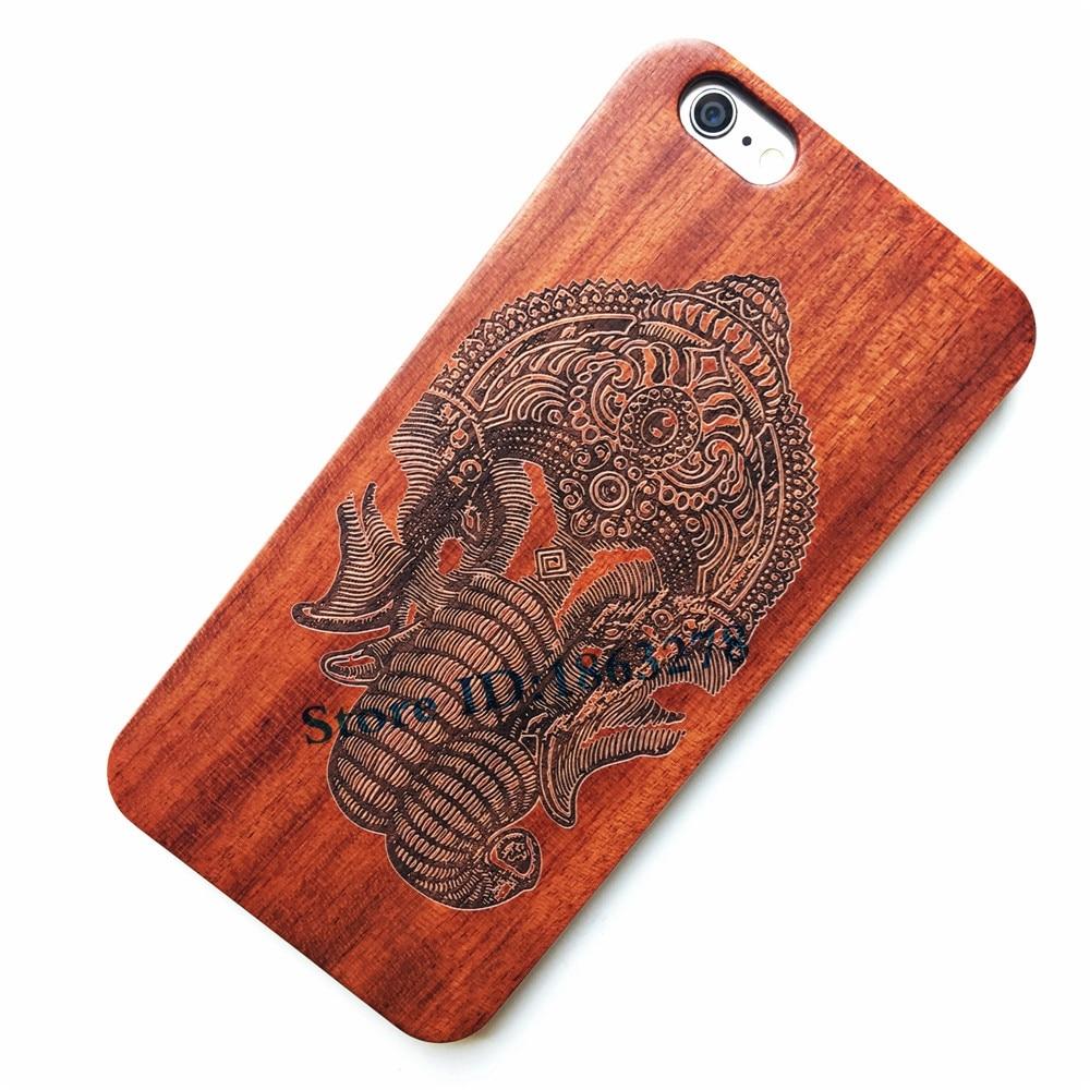 29 Дизайн Индийский Слон Ганеша Бог Дерево чехол для телефона iPhone 7 8 плюс 7 плюс 5 5S SE 6 6 s 6 Plus Iphone8 вырезать деревянной крышкой