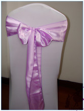 100pcs/lot Lavender Chair Sashes For Weddings Satin Chair Sash\chair Bow \ Chair