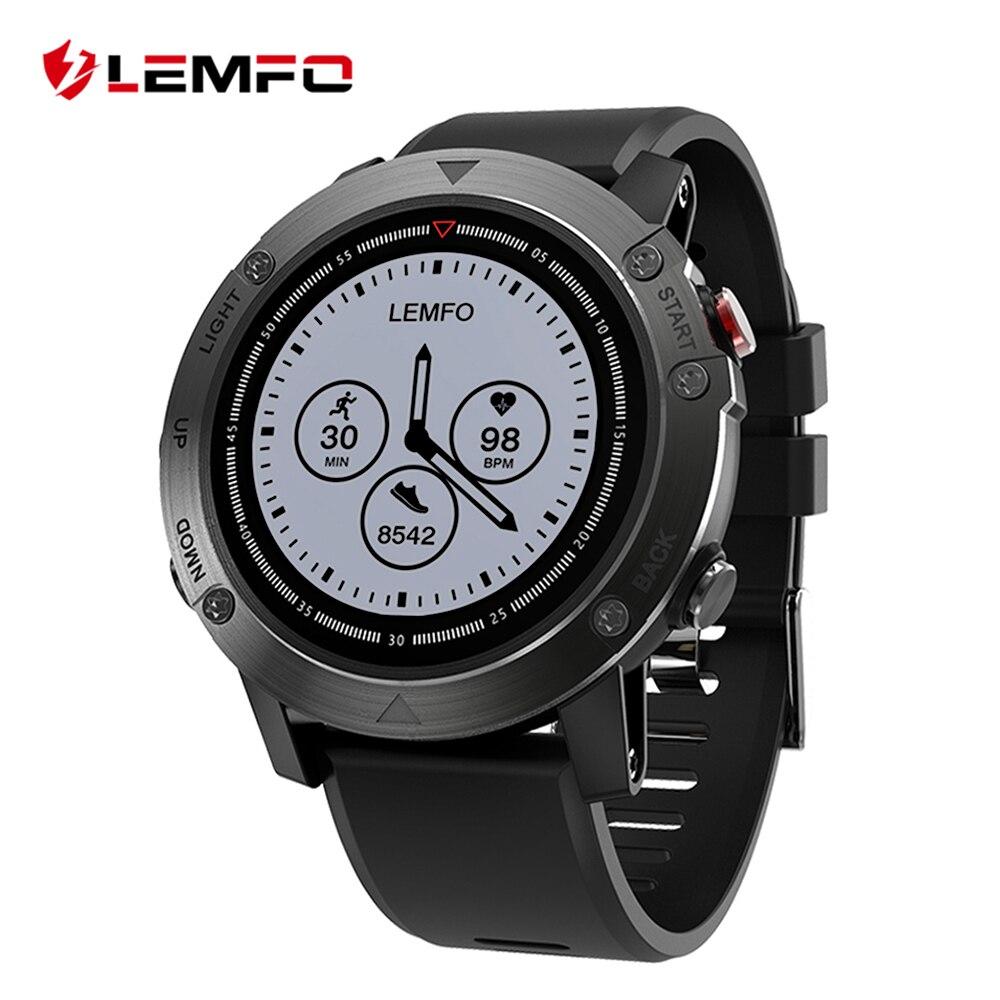 Galleria fotografica LEMFO LES3 Astuto Della Vigilanza <font><b>Smartwatch</b></font> IP68 Impermeabile <font><b>Smartwatch</b></font> GPS Frequenza Cardiaca Monitorare Più Sport Modalità per IOS Android Phone
