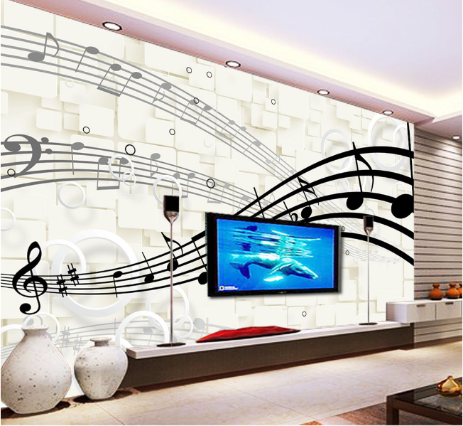 Free shippinig television background wall paper wall 3D wallpaper the living room sofa bedroom 3D wallpaper 3D stereo notes