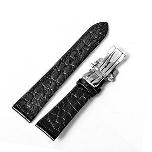 Image 2 - الشعاب النمر/RT عالية الجودة 22 مللي متر حقيقية جلد العجل حزام مع نشر مشبك دائم حزام (استيك) ساعة للرجال
