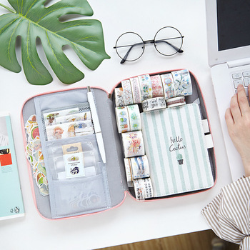 Pencil Case Multi-function Large Capacity Pen Box Storage Bag Cute Canvas Pouch Ipad Phone Passport School Office Stationery - discount item  41% OFF School Supplies