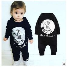 Baby Boys Girls Clothing Sets Autumn Cotton Baby Boys Clothes Rompers Clothes Long sleeved One Piece Jumpsuit TO THE MOON Bebes
