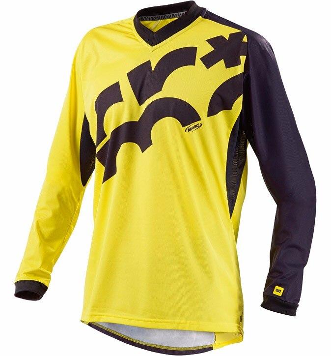 2017 New MAVIC Downhill Jersey Mountain Bike Motorcycle Cycling Jersey Crossmax Shirt Ciclismo Clothes for Men MTB T Shirt 5