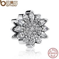 Classic 925 Sterling Silver Ariel S Ice Crystal Clear CZ Charm Fit Bracelet Necklace Jewelry Accessories