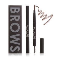 FOCALLURE 3 Colors Professional Rotatable Waterproof Eyeliner Eyebrow Eye Brow Pencil Makeup Cosmetic Pen