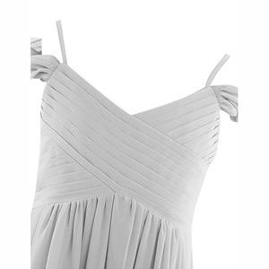 Image 5 - 3 10 year Kids Girls Off shoulder Pleated Chiffon Flower Girl Dress for girls wedding party vestidos infantis Kid Girls Clothes