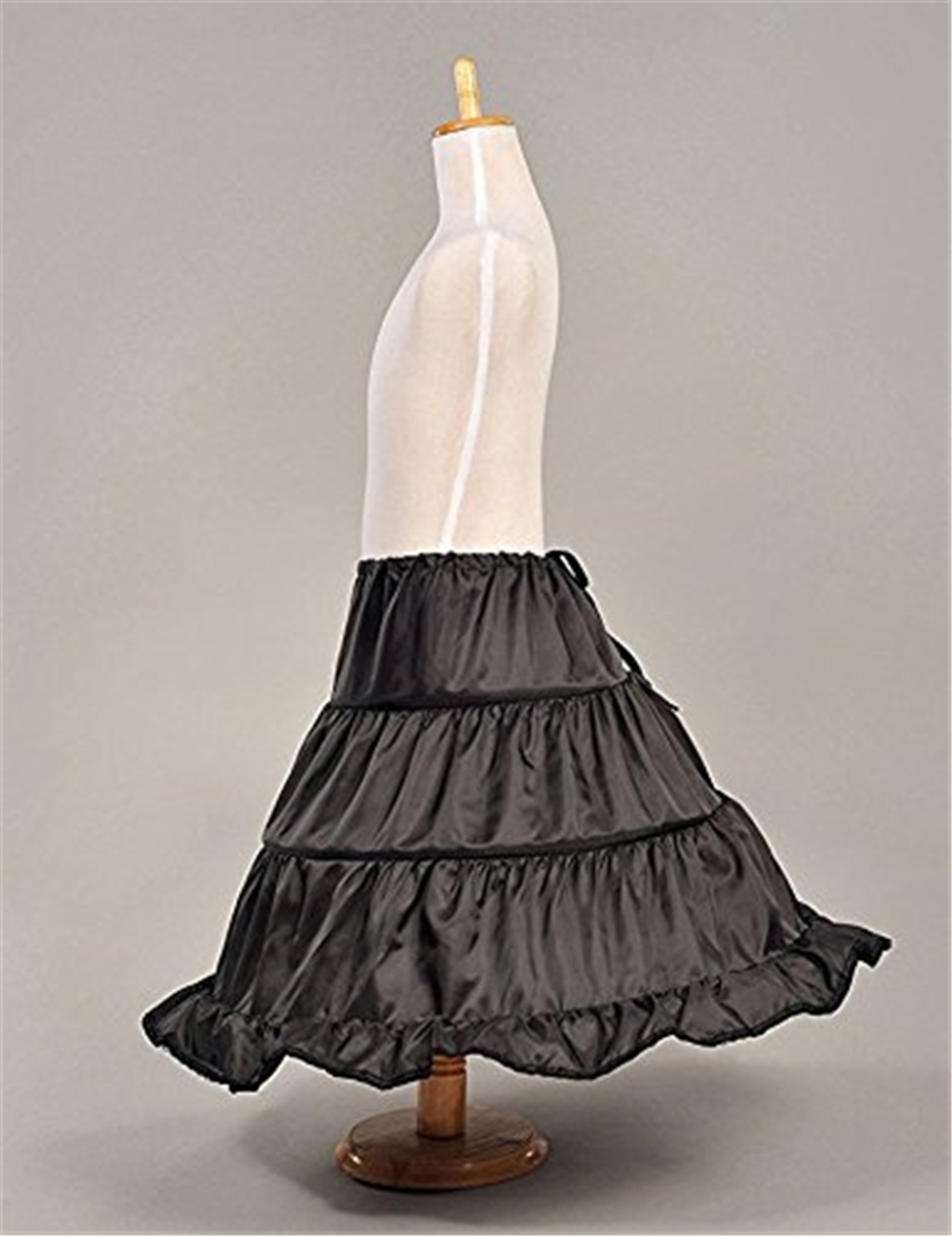 White/Black Girls Petticoat Crinoline 3 Hoops Underskirt For Flower Girl Dress Petticoats For Wedding Accessory