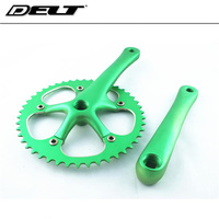 Bicycle cranksets Fixed gear Cycling Bike Single speed bicycle crank 46T crankset cycle multicolor cnc