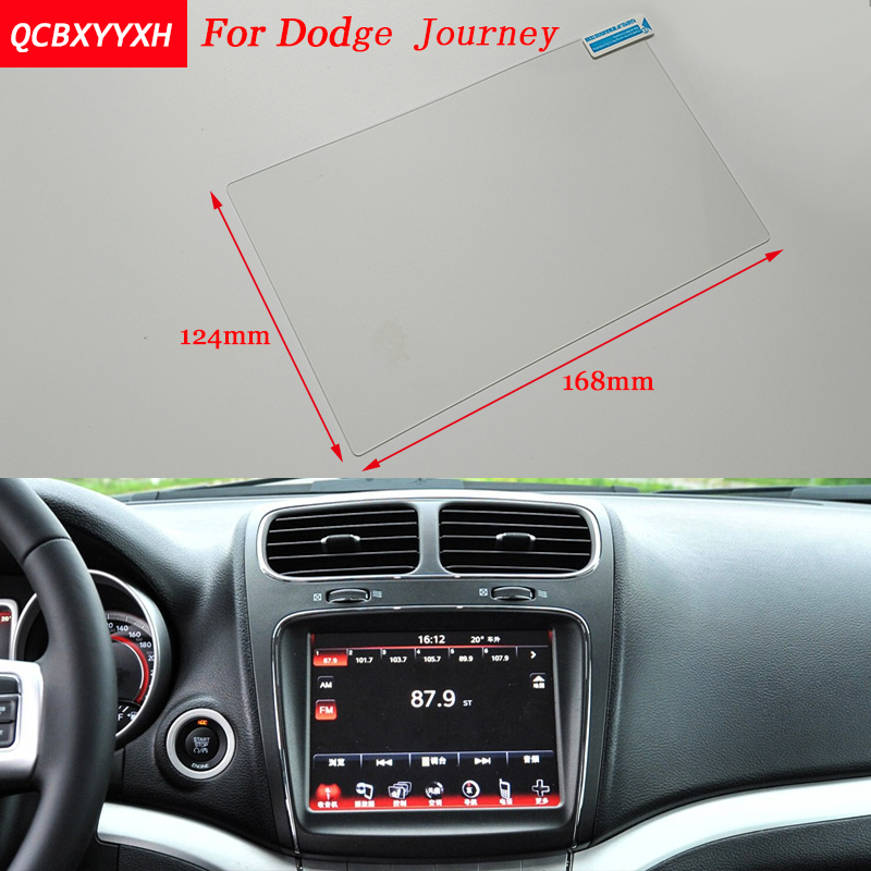 Car Sticker 8.4 Inch GPS Navigation Screen Steel Protective Film For Dodge Journey Control of LCD Screen Car Styling car mp5 player bluetooth hd 2 din 7 inch touch screen with gps navigation rear view camera auto fm radio autoradio ios