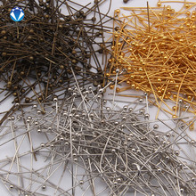 200pcs Antique Bronze Rhodium Gold Plated Metal Ball Head Pins For Diy Jewelry Making Findings Length 20 25 30 40 50mm(24 gauge) cheap Jewelry Findings C329 Pins Needles Copper MINGXUAN 0inch ball pins gold silver brzone red copper gunblack 18mm 20mm 24mm 30mm 35mm 40mm
