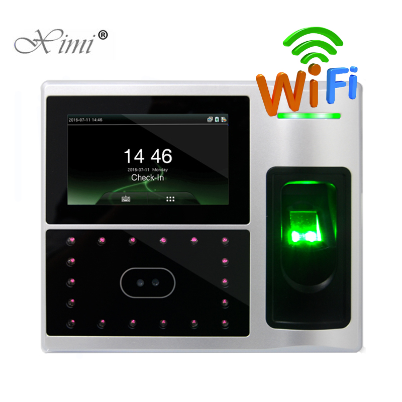 WIFI TCP/IP USB Face Time Attendance Biometric Fingerprint Door Access Control System ZK Iface802 Facial Employee Attendance