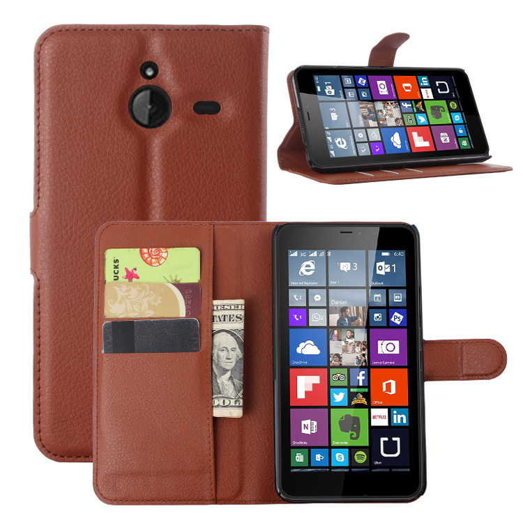 detailing 8c98c db340 Luxury Wallet Leather Flip Case Cover For Microsoft Lumia 640 XL Lte Dual  SIM Cell Phone Case Back Cover With Card Holder Stand