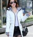 2015 inverno new mulheres casaco longo quente grossa jaqueta acolchoada para baixo slim fit plus size mulheres para baixo casaco de inverno parka casaco de inverno WT514
