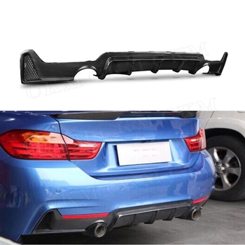 4 Series Carbon Fiber Rear Bumper Lip Diffuser Spoiler for BMW F32 F33 F36 420i 428i 435i 2014 2015 2016 2017 image