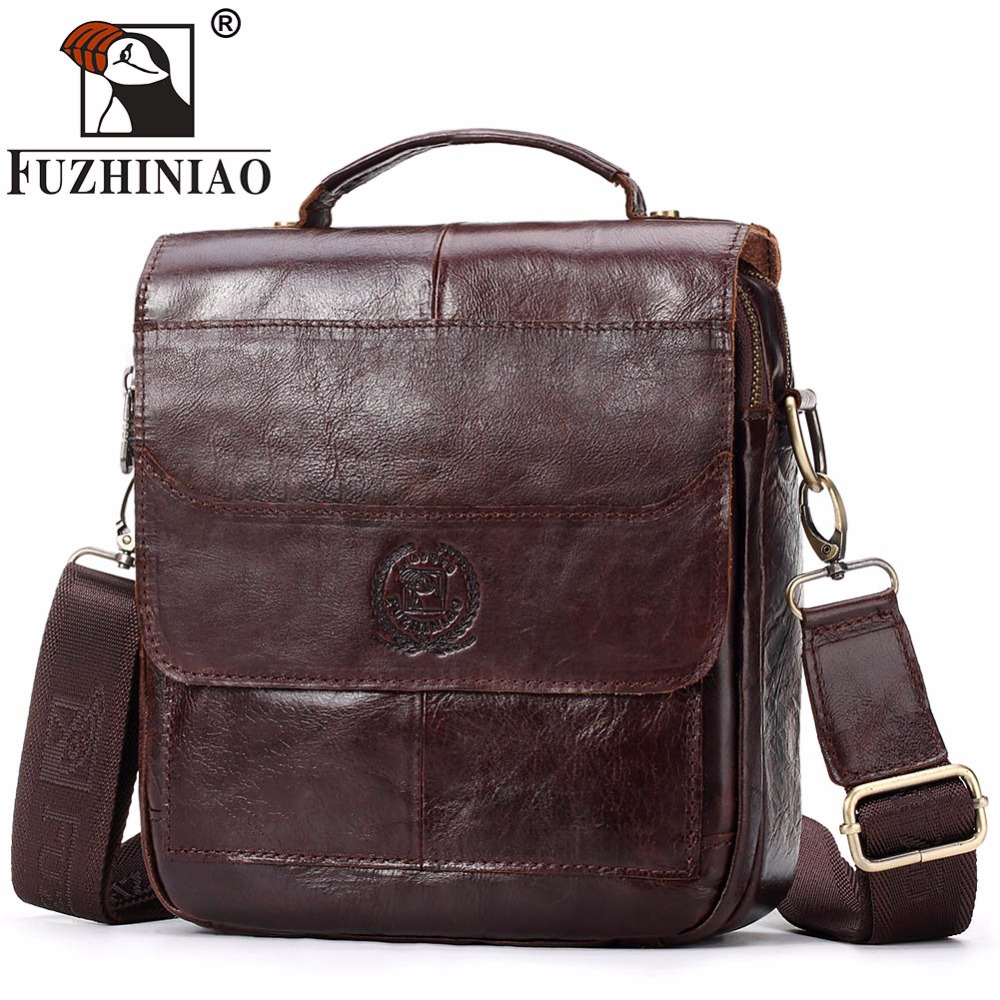 FUZHINIAO New Fashion Men Genuine Leather Messenger Bag Male Brands Design Cross body Shoulder Bag Cowhide Strap Small HandbagsFUZHINIAO New Fashion Men Genuine Leather Messenger Bag Male Brands Design Cross body Shoulder Bag Cowhide Strap Small Handbags