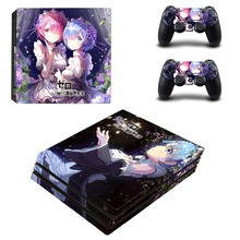 RE Life in A Different World From Zero PS4 Pro Skin Sticker Decal for PlayStation 4 Console and 2 Controller PS4 Pro Skin Vinyl