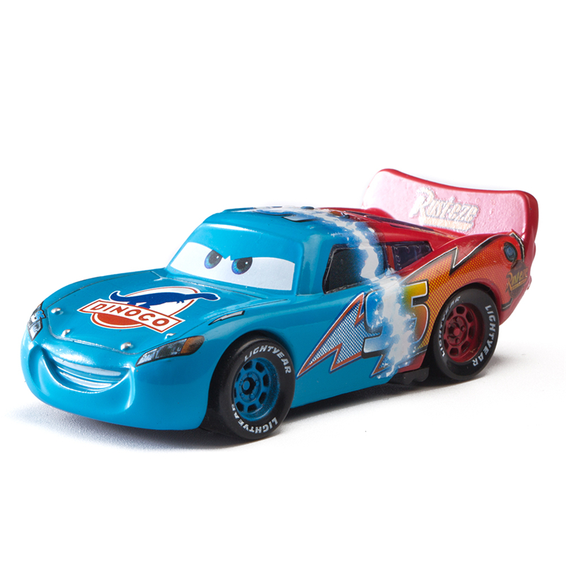 Disney Pixar Cars 3 New Lightning Mcqueen Gradual Change Jackson Storm Mater 1:55 Diecast Metal Alloy Model Car Toy Kids Gift
