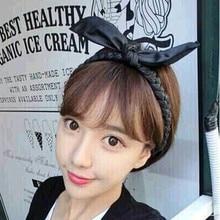 New Korean Style Rabbit Ear Leather Braid Headbands For Women Hair Accessories
