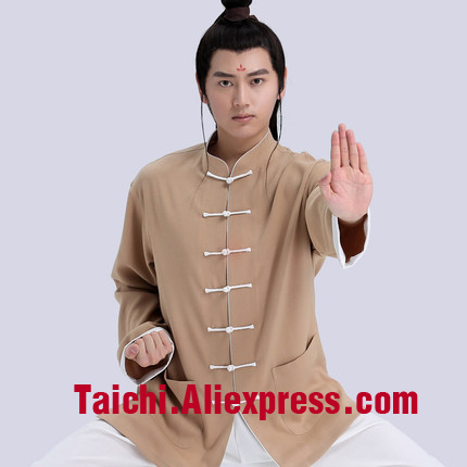 Anti-Wrinkle Linen Tai Chi Uniform Wushu, Kung Fu,martial Art Suit  Chinese Stlye Sportswear,Male & Female Handmade Linen painted handmade linen tai chi uniform taijiquan female clothing summer short sleeved wushu kung fu jacket pants