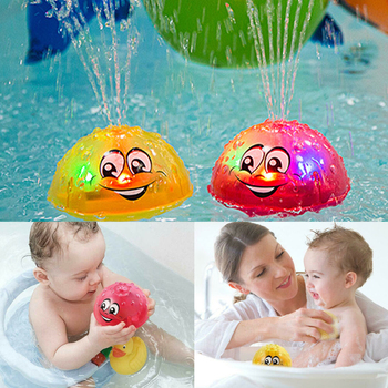 Cute Cartoons Infant Children's Electric Induction Sprinkler Water Spray Lamp Ball Baby Bath Toy Kids Music Water Game Toys baby bath toy cute cartoon light music sprinkler water splash ball kids baby bath pool toy led light funny toy