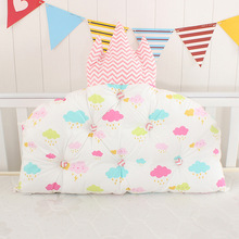 Bed Bumper Backrest Baby Bedside Cushion Cotton Crown Shape Pillow Crib Protector Pillow Baby Room Bedroom Decoration xisayababy nordic style baby bed bumper colorful baby pillow cushion baby bedding crib protector baby room decoration 200cm