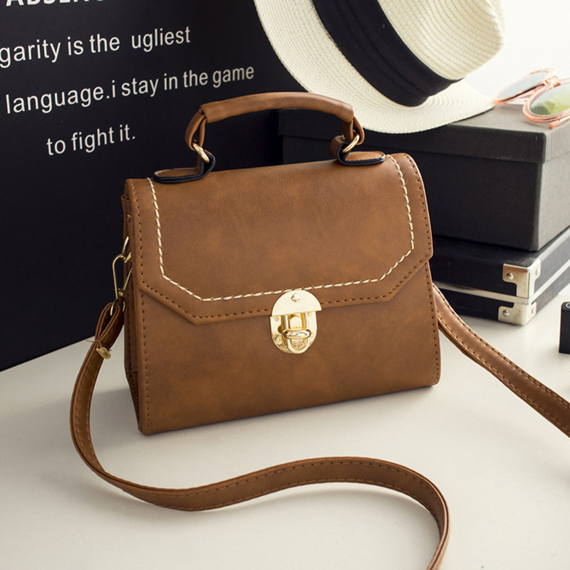 ФОТО All-match Lady Handbag Korean Version New Style Shoulder Bag Brown Black Corssbody Bags Across Small Packages