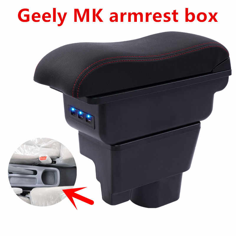 For Geely MK armrest box central Store content box cup holder ashtray car-styling products interior accessory part 09-13